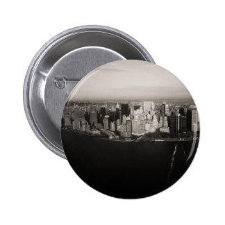 City that never sleeps pinback button