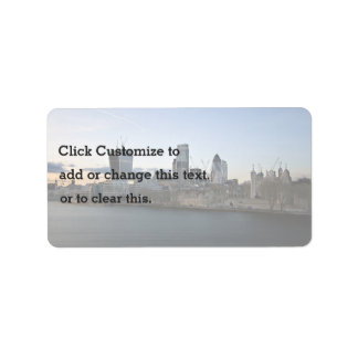 City Themed, A Beautiful City Situated On The Bank Label