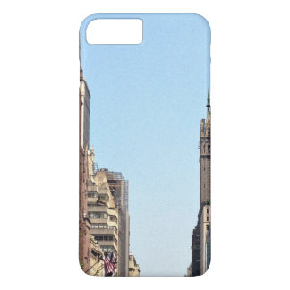 City Themed, Pedestrians Use Crosswalk On Busy Cit iPhone 7 Plus Case