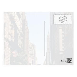 City Themed, Pedestrians Use Crosswalk On Busy Cit Postcard