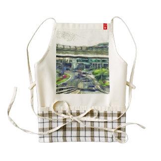 City traffic zazzle HEART apron