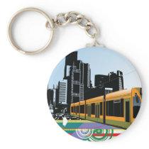 City Tram Keychain