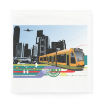 City Tram Paper Napkins
