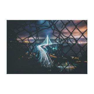 City trough Fence Canvas Print