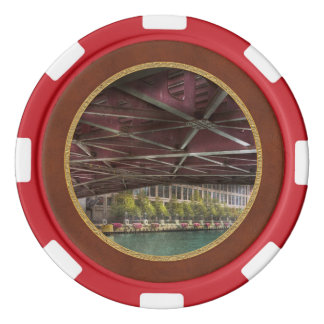 City - Underneath the William P Fahey Bridge Set Of Poker Chips