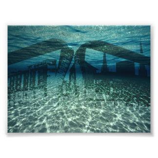 City underwater photo art
