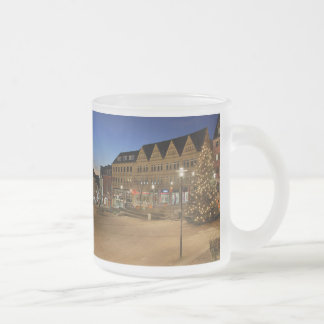 City victories market place to the blue hour frosted glass coffee mug