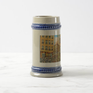 City view beer stein