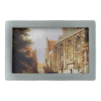 City view by Cornelis Springer Belt Buckle