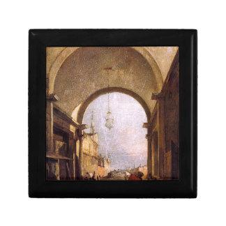City View by Francesco Guardi Keepsake Box