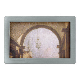 City View by Francesco Guardi Rectangular Belt Buckle