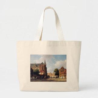City view by Johan Hendrik Weissenbruch Jumbo Tote Bag