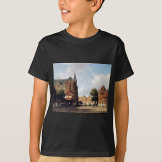 City view by Johan Hendrik Weissenbruch T-Shirt