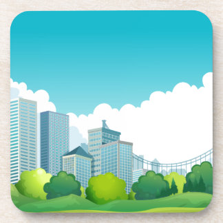 City view drink coaster