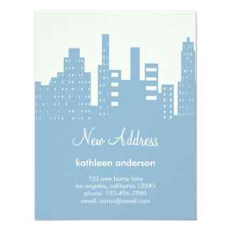 """City View Moving Announcement 4.25"""" X 5.5"""" Invitation Card"""