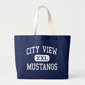 City View - Mustangs - High - Wichita Falls Texas Canvas Bags