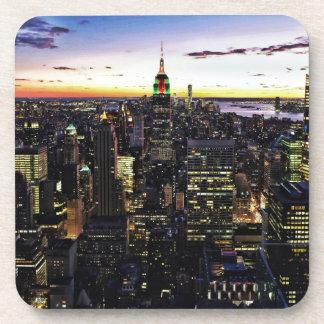City View Night Beverage Coaster