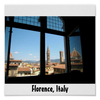 City View of Florence Poster