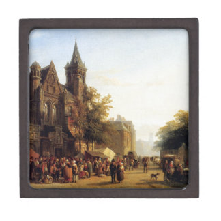 City view with figures by Cornelis Springer Gift Box