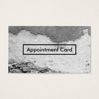 city wall appointment reminder business card