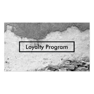 city wall loyalty program business card