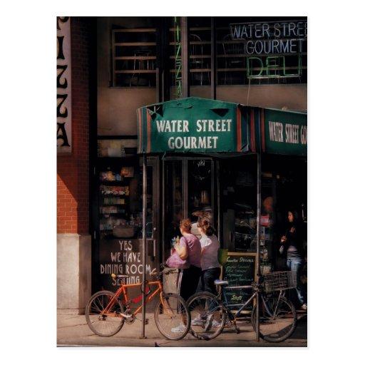 City - Water St Gourmet Deli Postcard