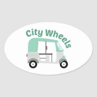 City Wheels Oval Sticker