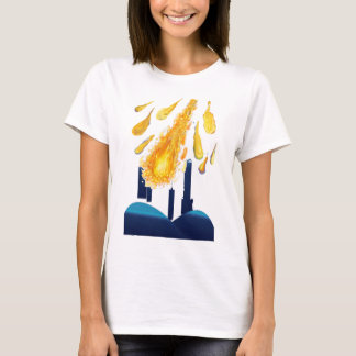 city with meteor/golden ball collection T-Shirt
