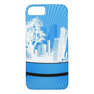 City with tree iPhone 7 case