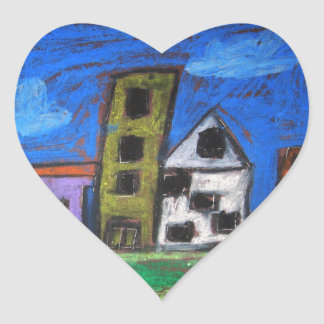 Citycscape Heart Sticker