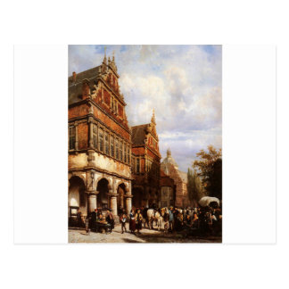 Cityhall Paderborn by Cornelis Springer Postcard