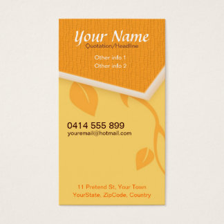 CityNature Vertical Business Card