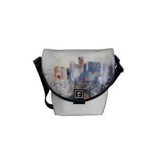 CITYSCAPE 2 ABSTRACT MESSENGER BAG