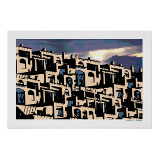 'Cityscape 2d' Poster