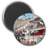 Cityscape architecture historical art, Savannah GA Refrigerator Magnet