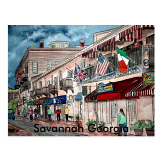 Cityscape architecture historical art, Savannah... Postcard