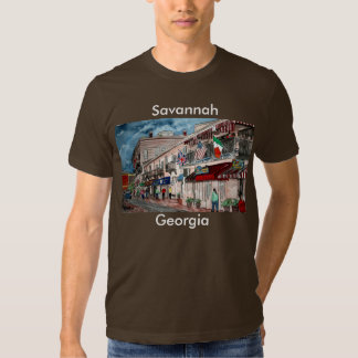 Cityscape architecture historical art, Savannah... Shirt
