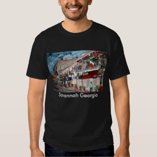 Cityscape architecture historical art, Savannah... T Shirt