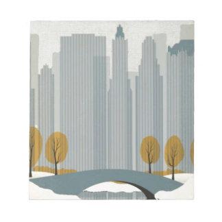 Cityscape art notepad