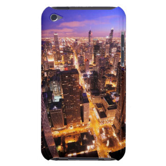 Cityscape at night of Chicago Barely There iPod Cover
