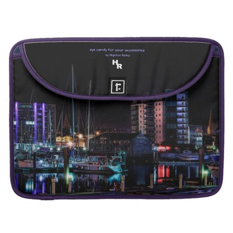 Cityscape at Night - Plymouth Barbican Sleeve For MacBook Pro