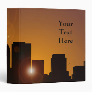 Cityscape at sunrise binder