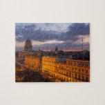 "Cityscape at sunset, Havana, Cuba Jigsaw Puzzle<br><div class=""desc"">Cuba,  Havana. Twilight over the city with the capitol and other historical buildings. 