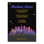 """CITYSCAPE Bar Bat Mitzvah Invitation Invite 5"""" X 7"""" Invitation Card"""