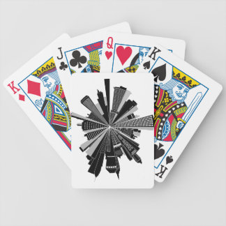 Cityscape Bicycle Playing Cards