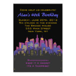 "CITYSCAPE Birthday party Invitation 5"" X 7"" Invitation Card"