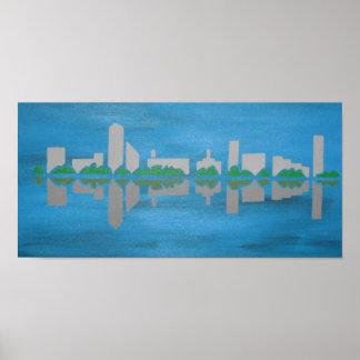 cityscape canvas poster
