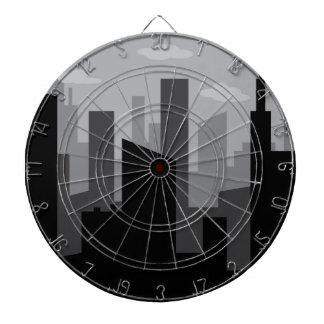 Cityscape Dartboard With Darts