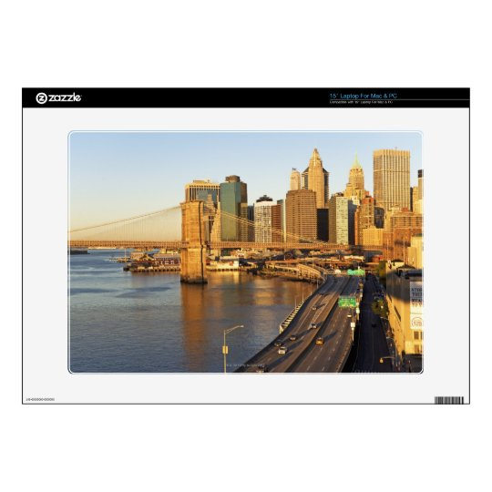 "Cityscape Decal For 15"" Laptop"