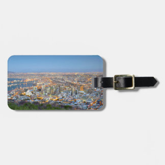 Cityscape From Summit Of Signal Hill At Dusk Bag Tag